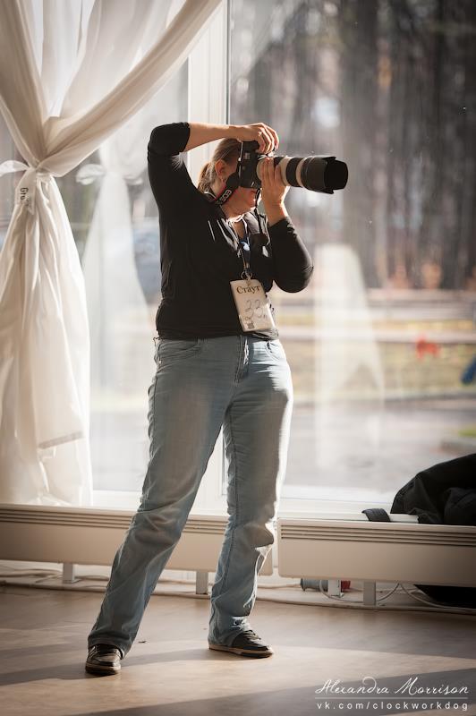 Я и не моя камера :-) Фото Александры Моррисон, 2012 год